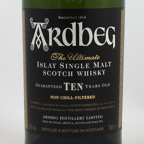 ARDBEG TEN YEARS ISLAY SINGLE MALT