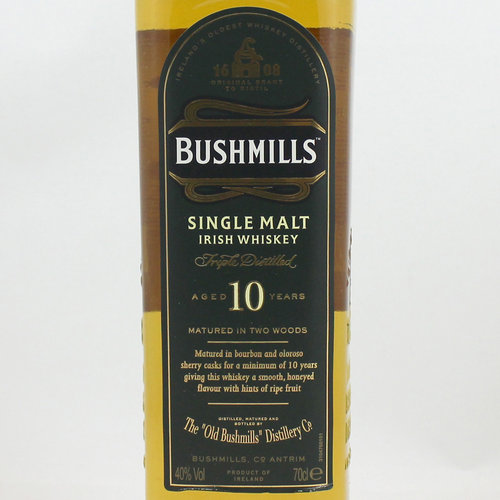 BUSHMILLS 10 YEARS IRISH SINGLE MALT